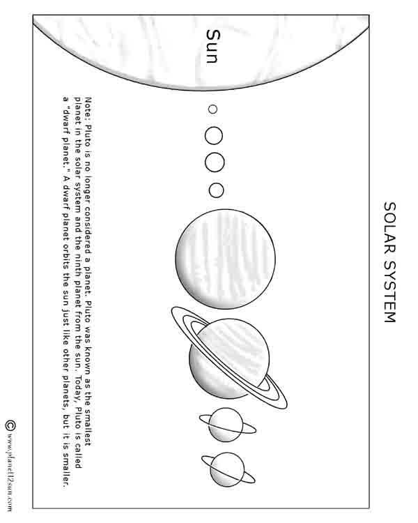 solar system free printable worksheet