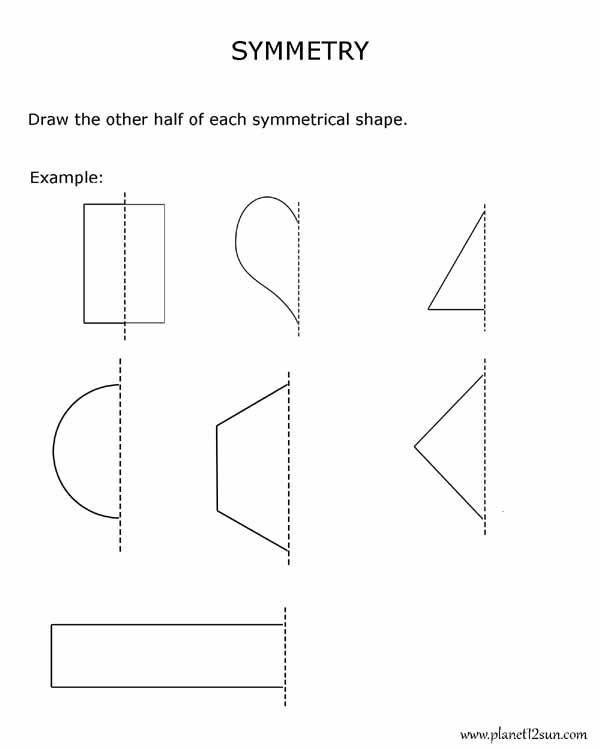symmetry 2nd grade free printable worksheet