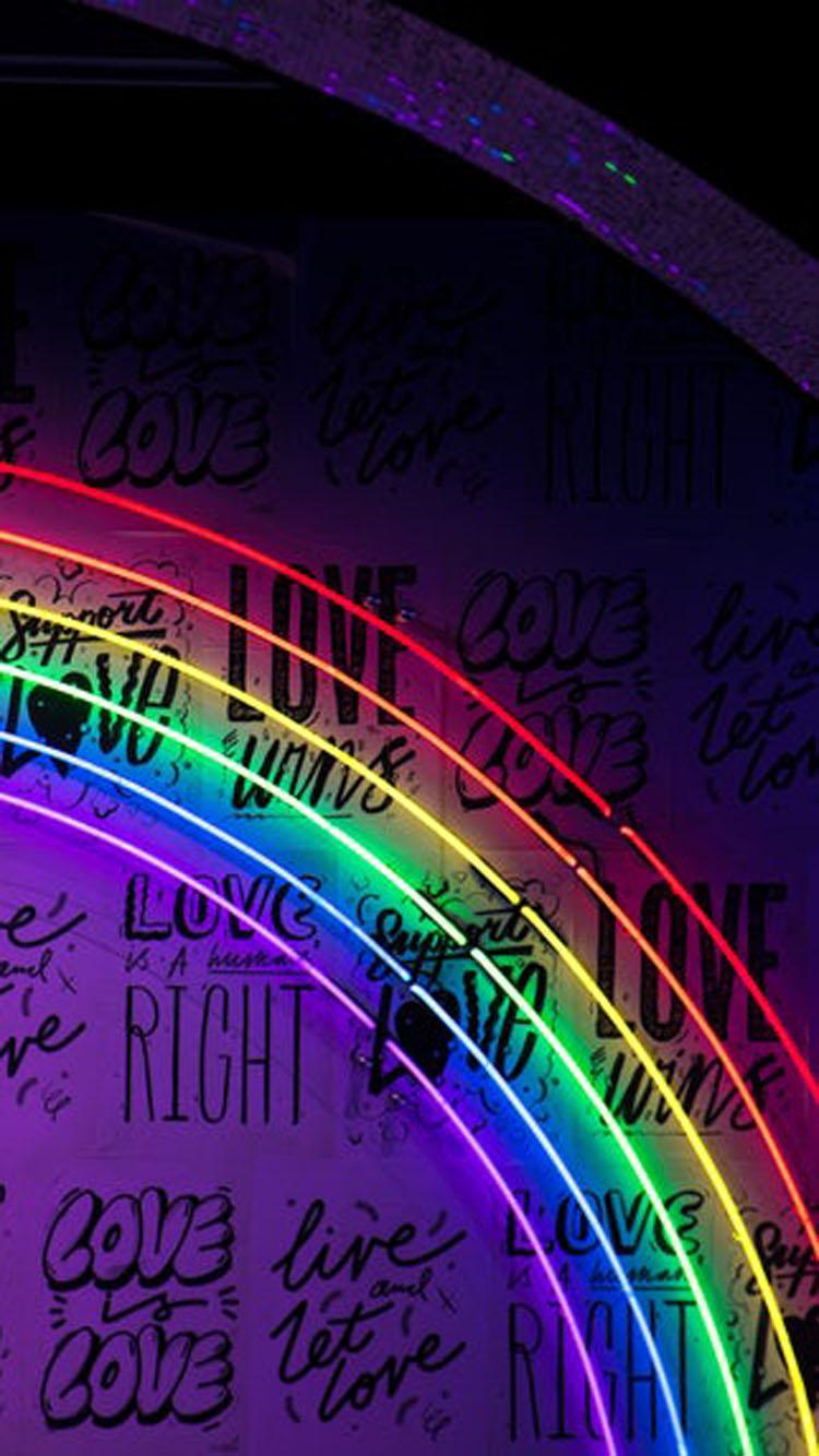 Neon Rainbow Wallpaper Phone Apple Iphone 6 6s 7